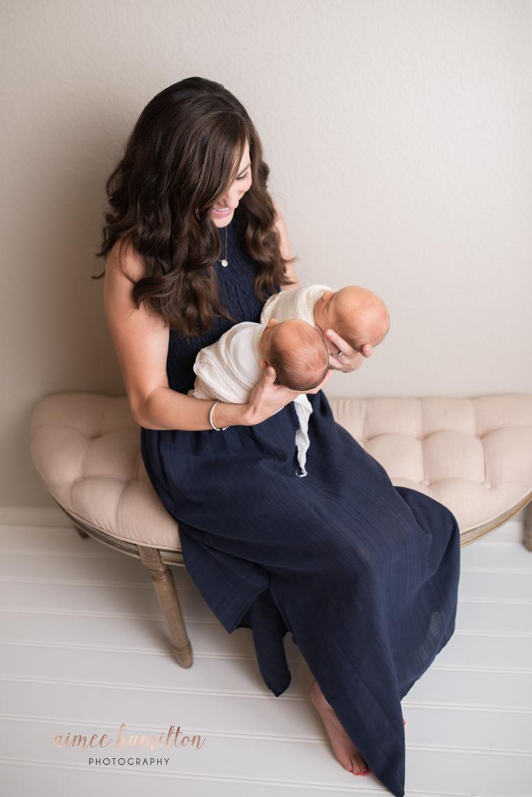 Woodlands Twin Newborn Photographer