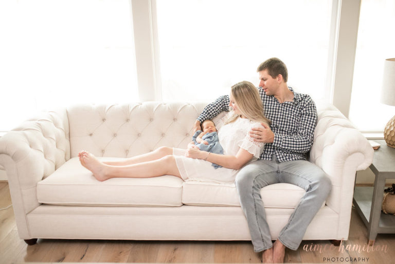 Lifestyle Newborn Photography in The Heights