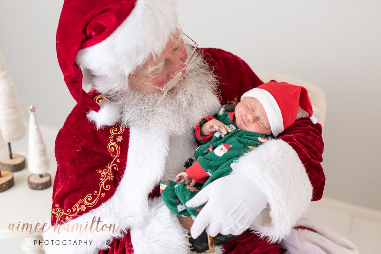 Newborn with Santa
