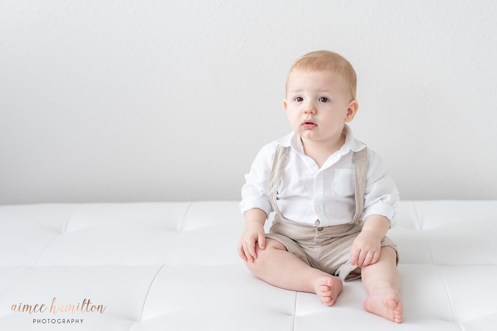 picture of baby boy in suspenders