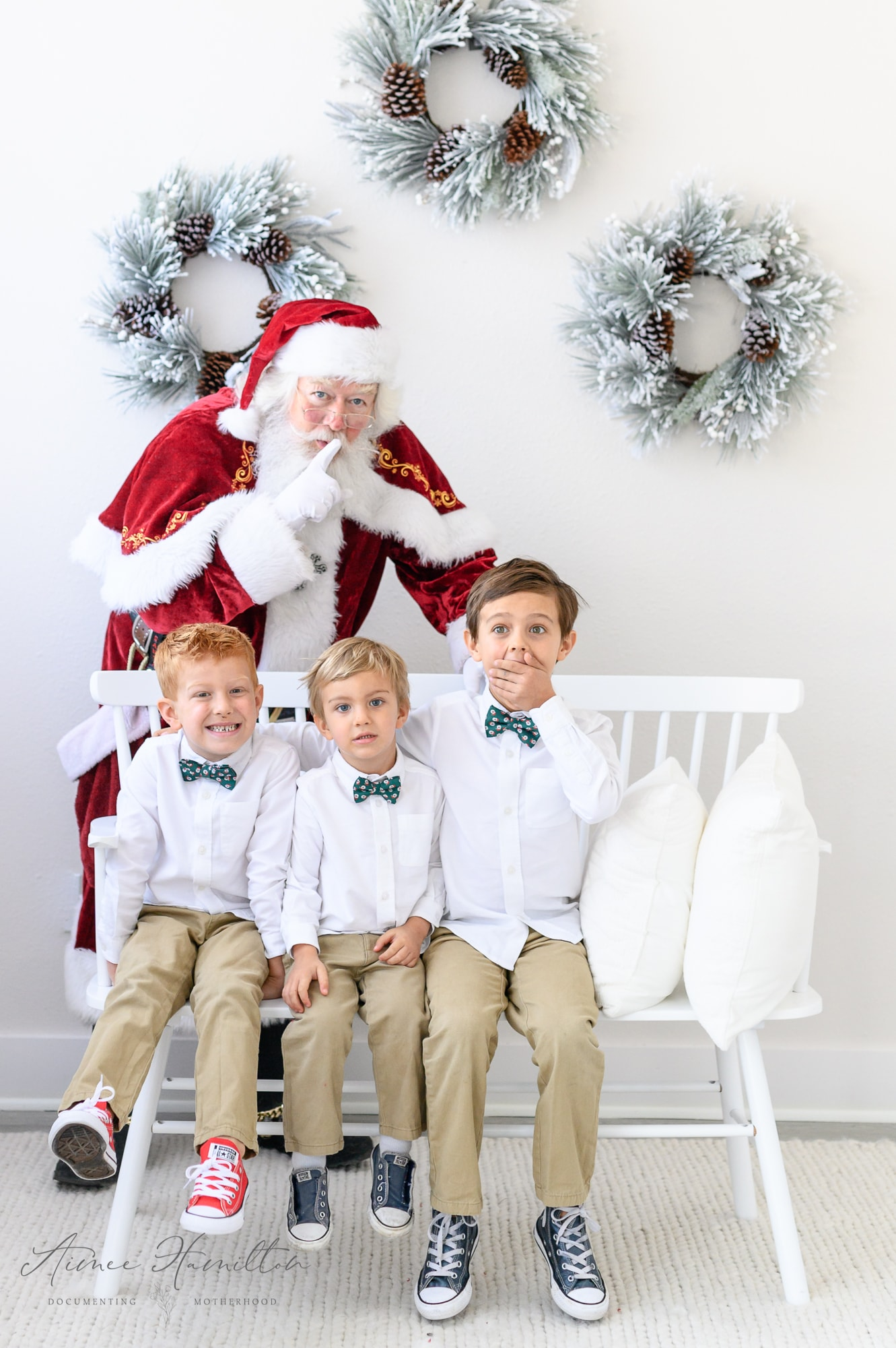 boys meet Santa