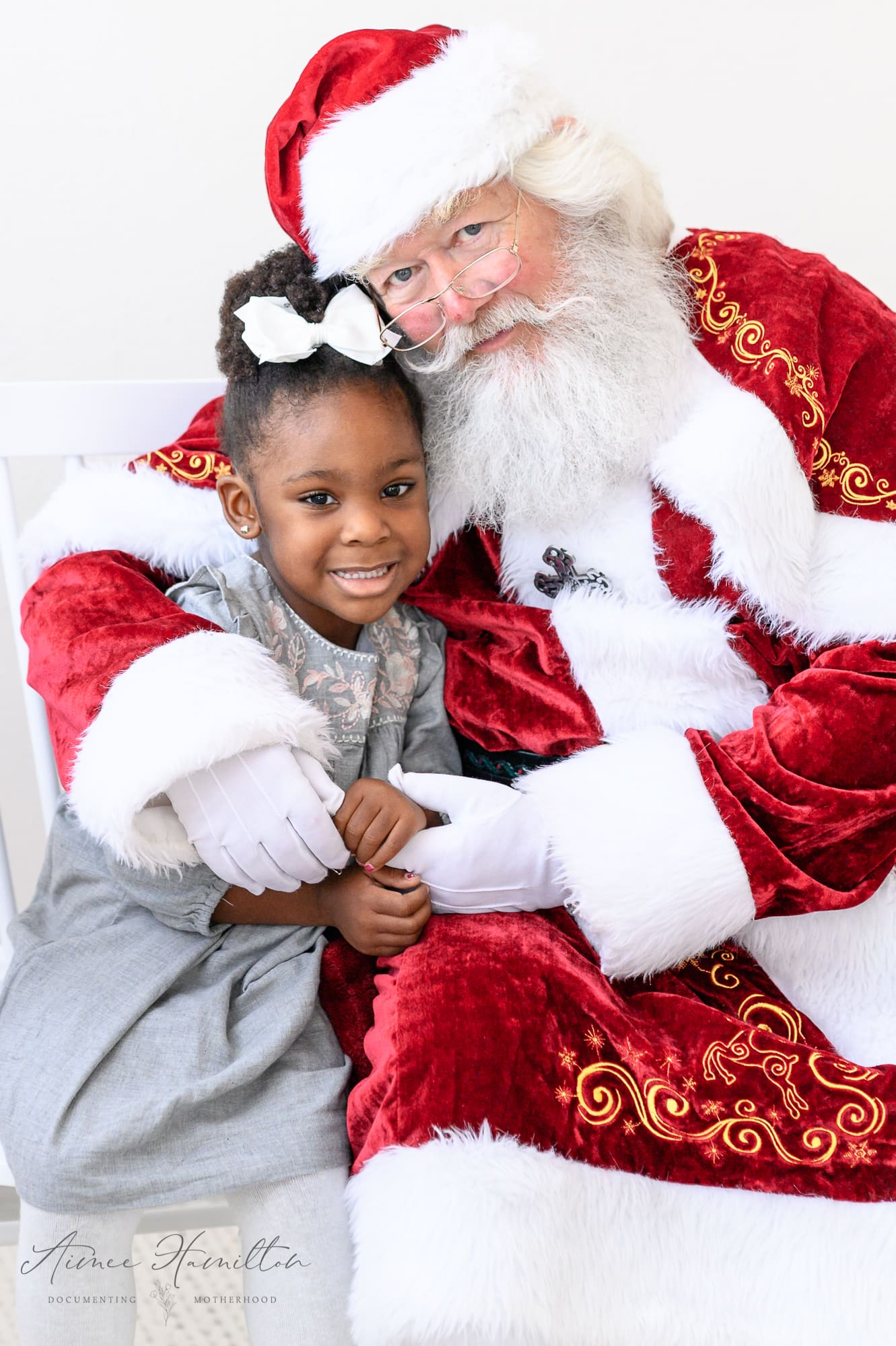 Sweet girl with Santa