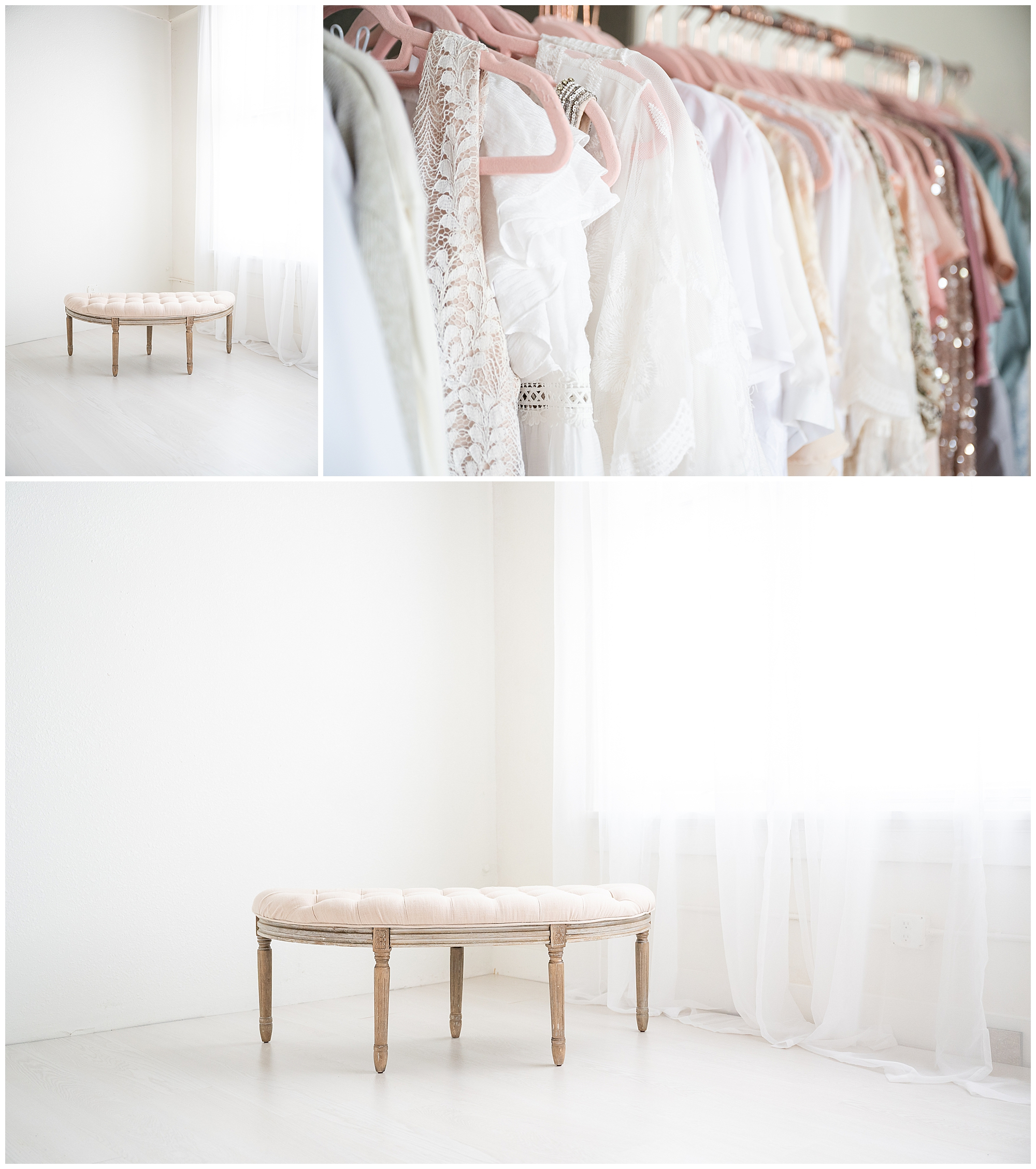 light and airy photography studio