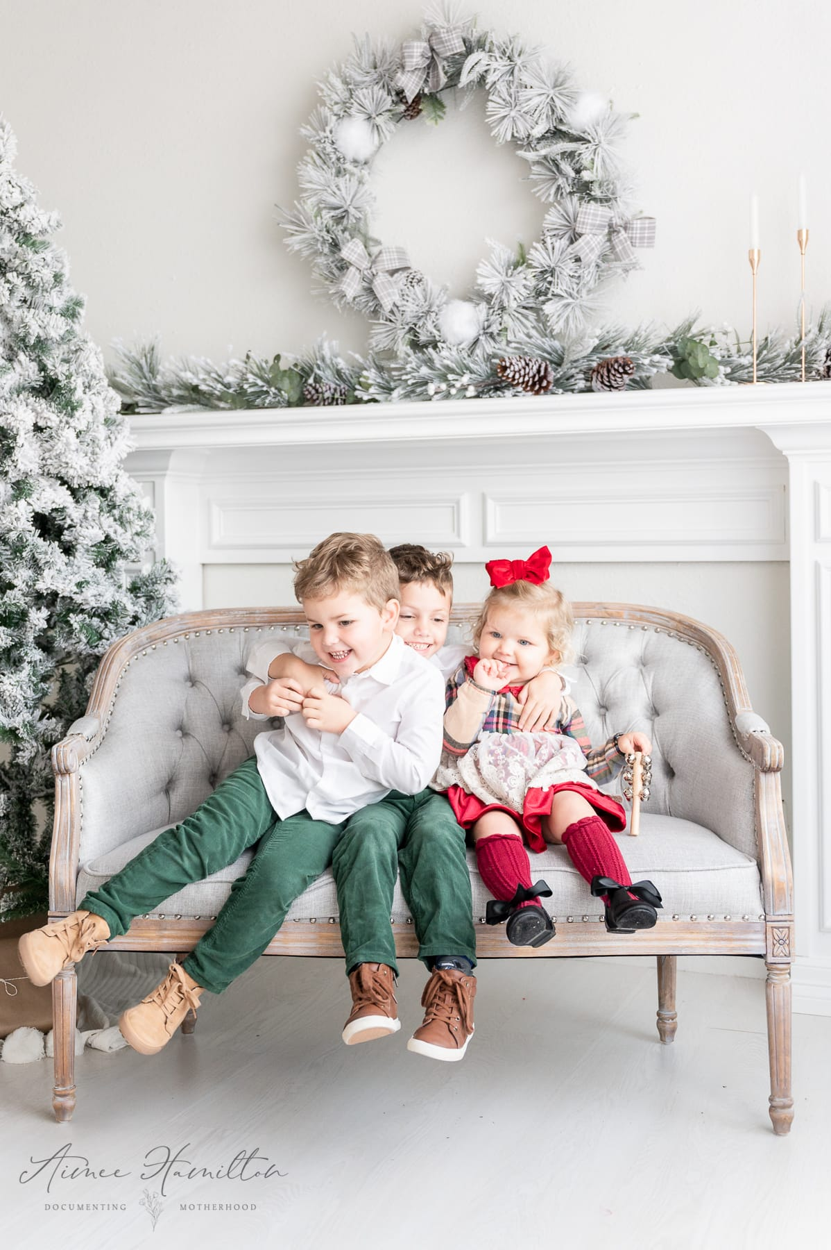 Dallas child photography at Christmas