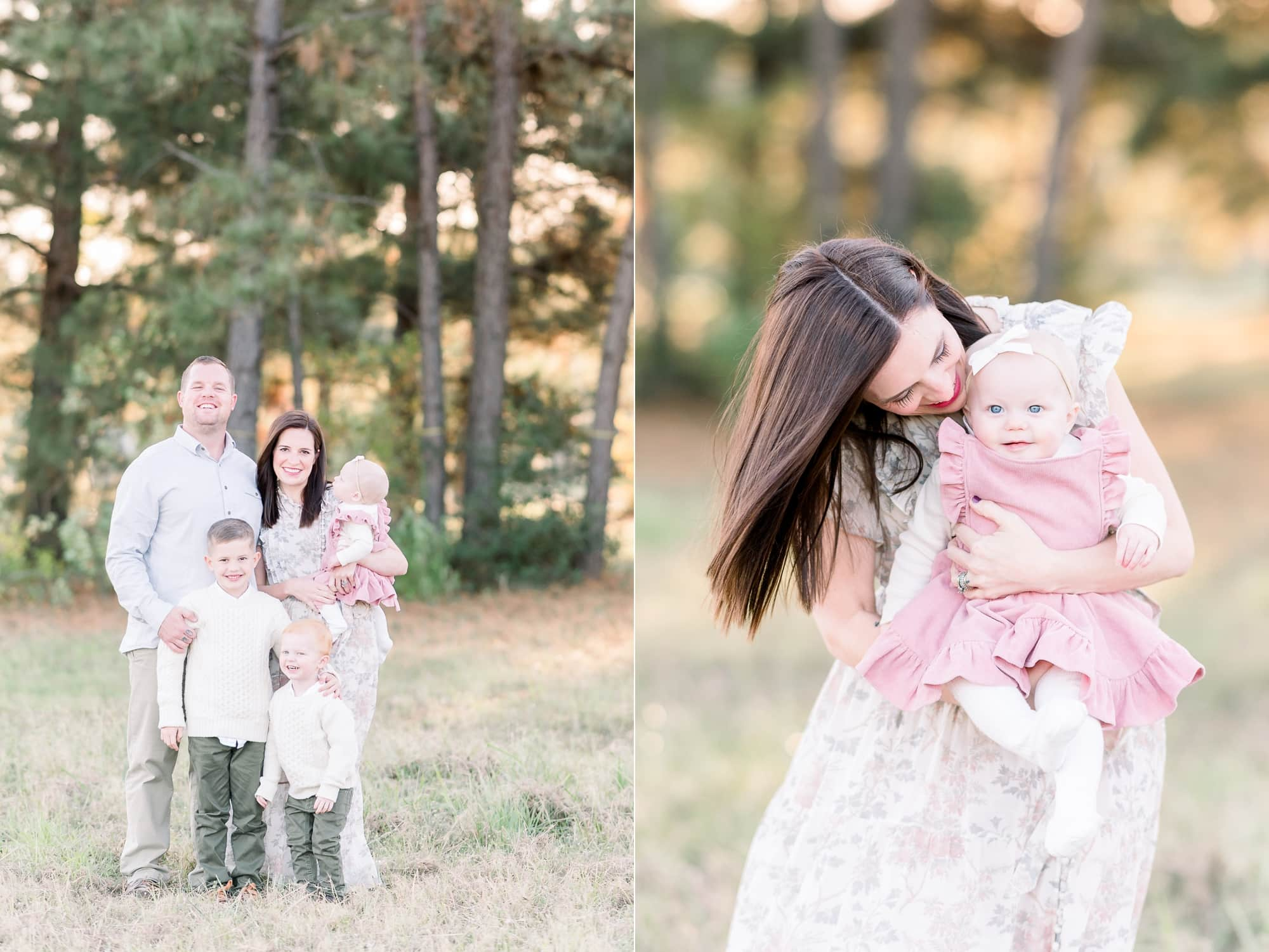 Sweet family photos in a field outside of Dallas, TX. Photos by Aimee Hamilton Photography.