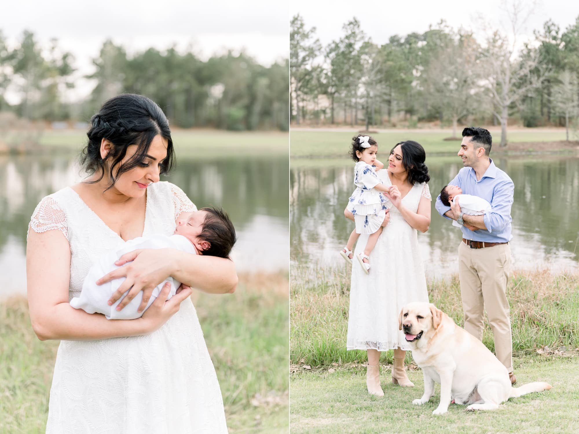 Outdoor newborn photography session in Frisco, TX park. Photos by Aimee Hamilton Photography.