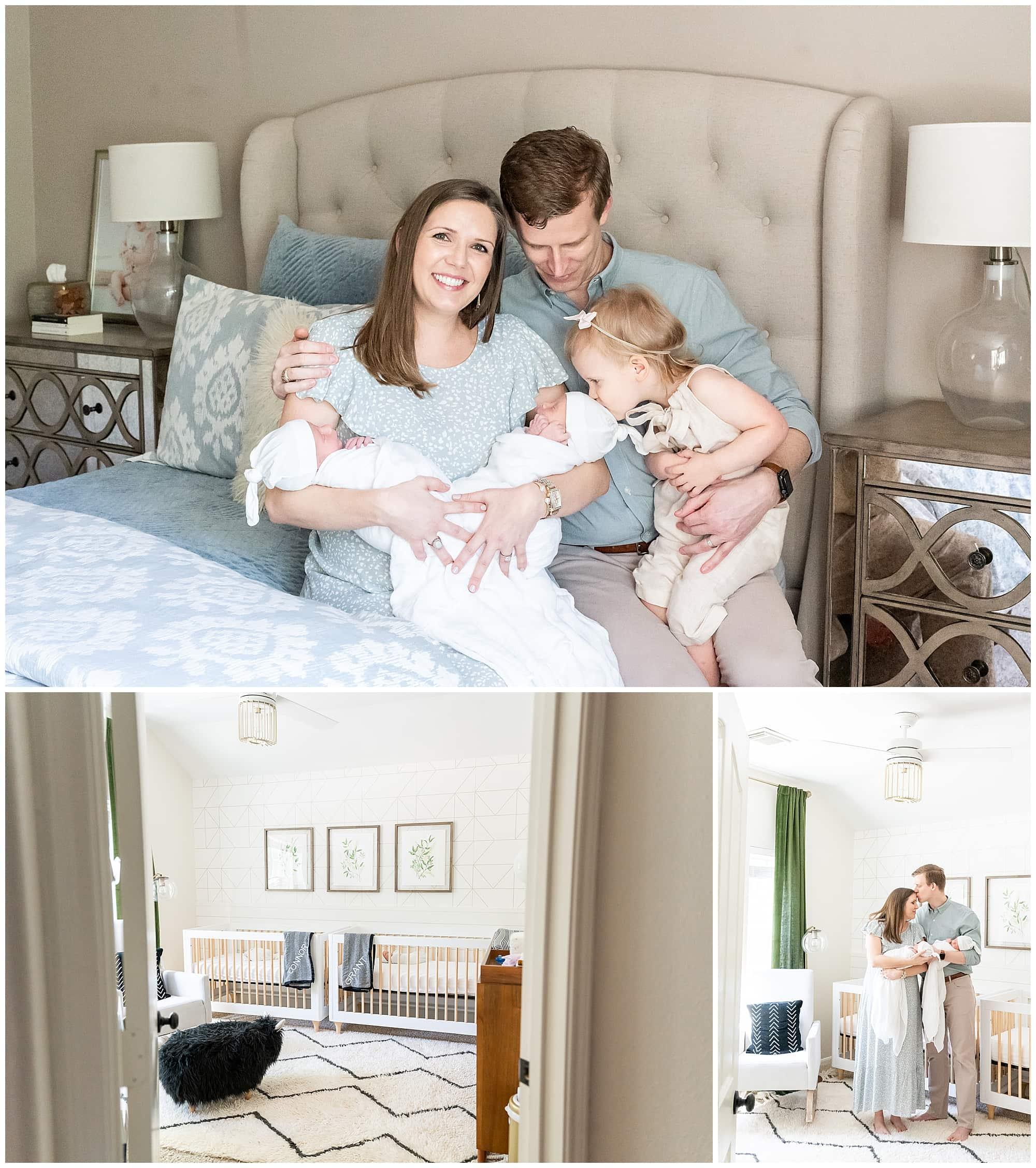 twin newborn photographer dallas
