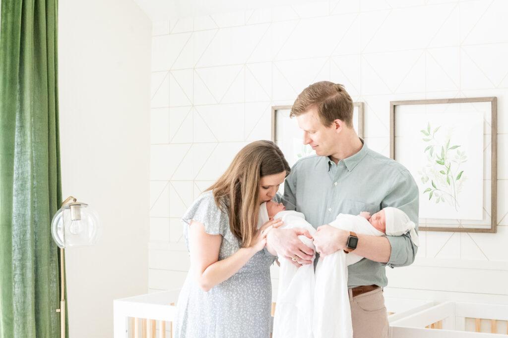 newborn photographer for dallas twins