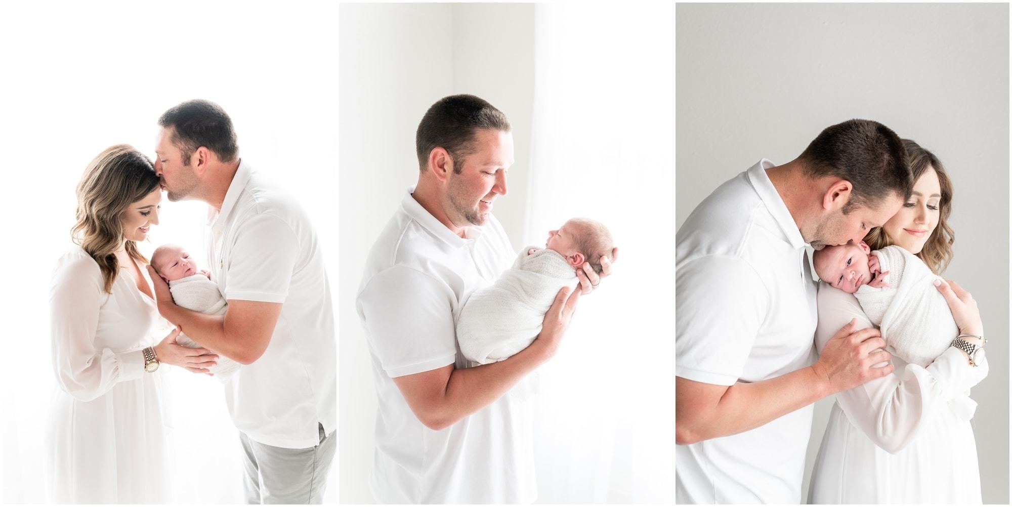 white studio newborn photography in Dallas