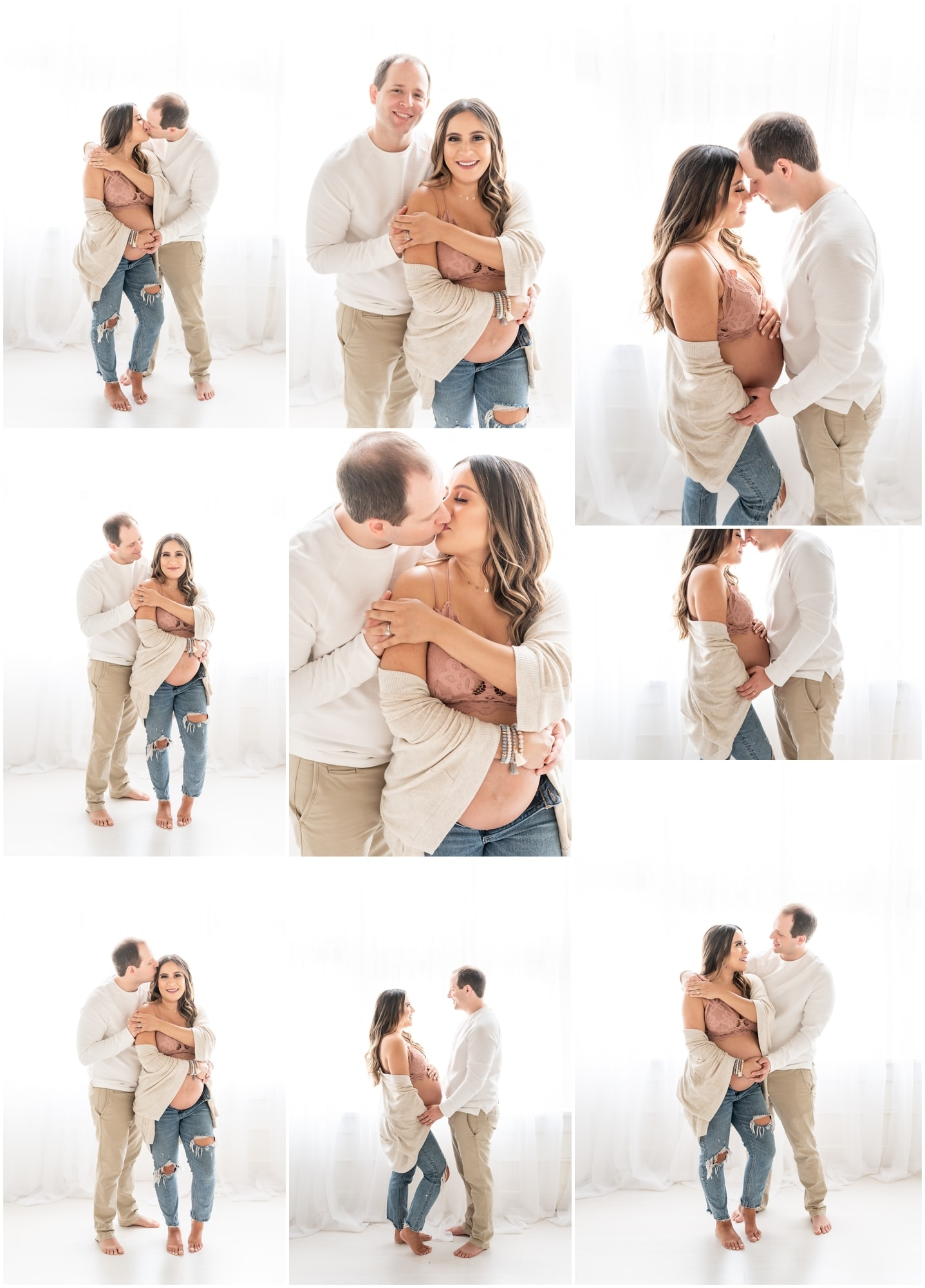 bralette maternity pictures with belly showing