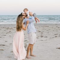 family galveston beach portrait